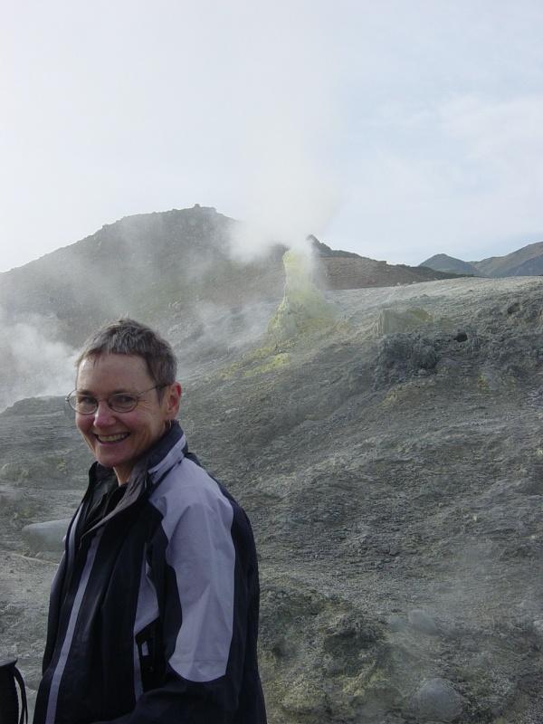 Maura High among misty hills